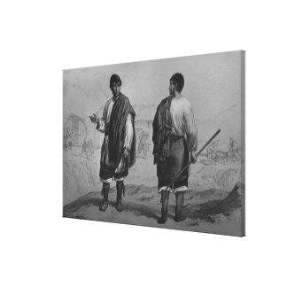 Miners of Chile, engraved by F. Lehnert Canvas Print