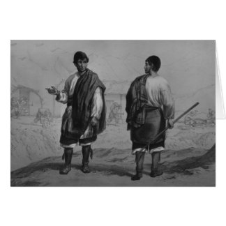 Miners of Chile, engraved by F. Lehnert Card
