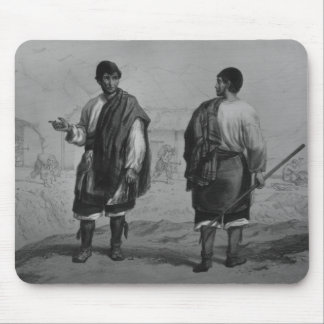 Miners of Chile, engraved by F. Lehnert Mouse Mat