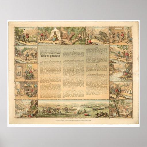 Miner's Ten Commandments (1081A) Poster