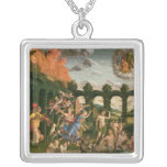 Minerva Chasing the Vices Square Pendant Necklace