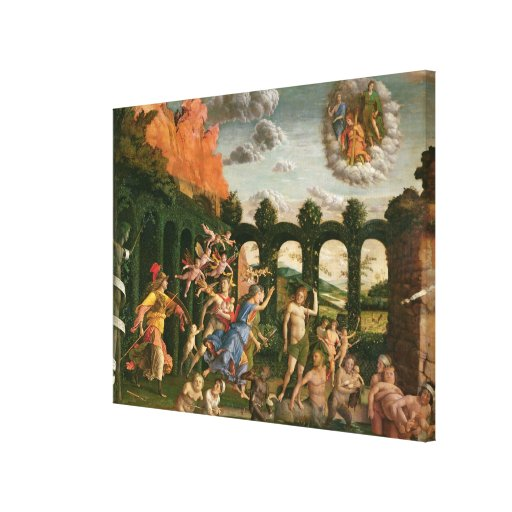 Minerva Chasing the Vices Stretched Canvas Print