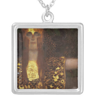 Minerva or Pallas Athena Silver Plated Necklace