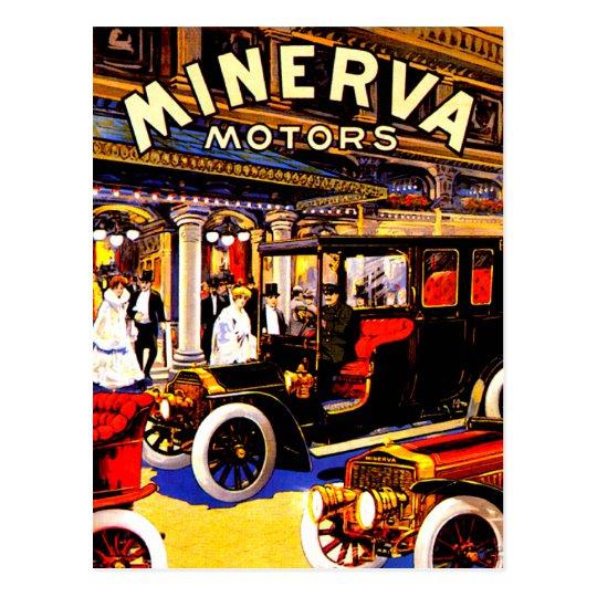 Minerva ~ Vintage Belgian Automobile Ad Postcard
