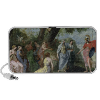 Minerva with the Muses Travel Speakers
