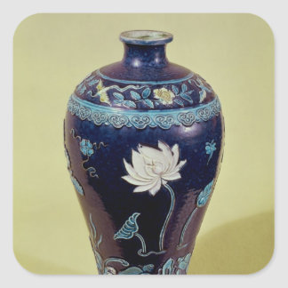 Ming vase with three colour decoration stickers