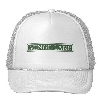 Minge Lane, Street Sign, Worcestershire, UK Mesh Hats