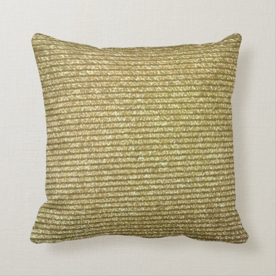 """MINGLED GOLD CUSTOM DESIGN THROW PILLOW"""" CUSHION"