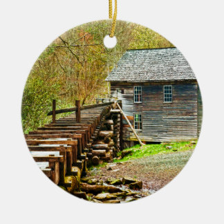 Mingus Mill, Great Smoky Mountains Christmas Ornament