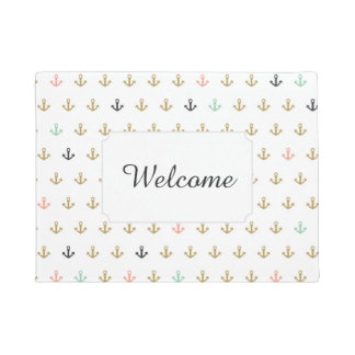 Mini Anchor Pattern | Add Your Text Doormat