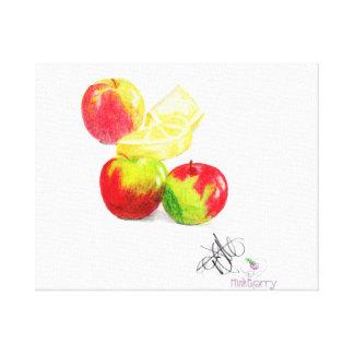 Mini Apples and Lemon Wedges Canvas Print