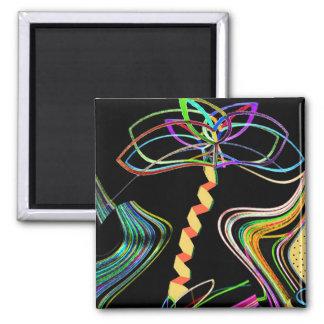 Mini Art Neon Palm Magnet