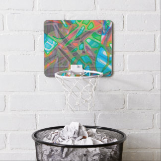 Mini Basketball Hoop Colorful Stained Glass