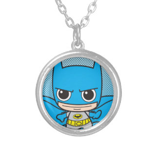 Mini Batman Running Silver Plated Necklace