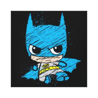 Mini Batman Sketch Canvas Print