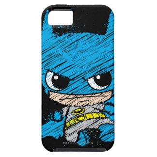 Mini Batman Sketch iPhone 5 Case