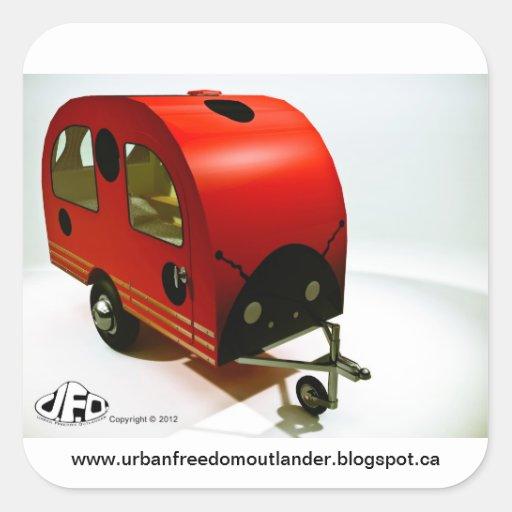 Mini Bike Camper Ladybug style Sticker