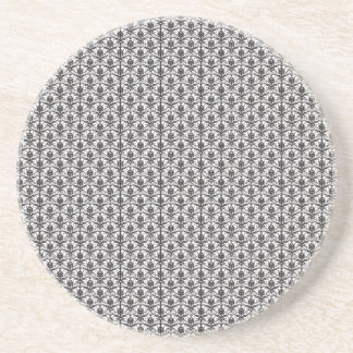 Mini Black and White Damask Pattern Coasters