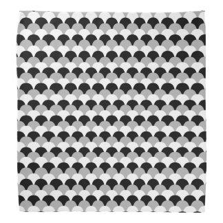 Mini Black, White and Gray Gumdrop Pattern Bandanas