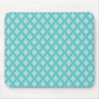 Mini blue damask vintage wallpaper pattern mouse pad