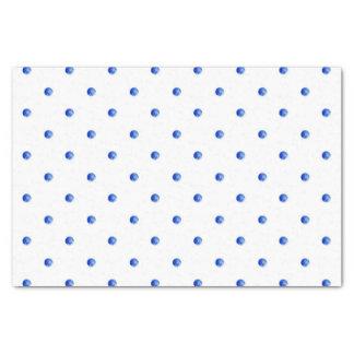 Mini Blue Watercolor Polka Dots Tissue Paper