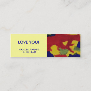 Book mini business cards business card printing zazzle uk mini book marker love you mini business card reheart Images