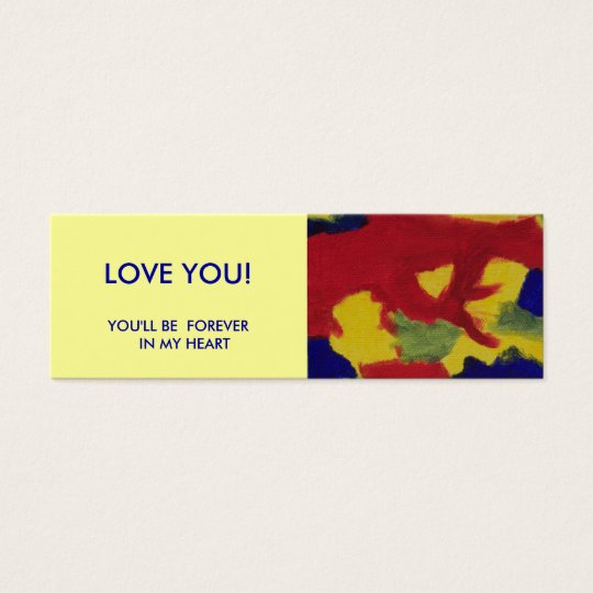 Mini Book Marker -  Love You Mini Business Card