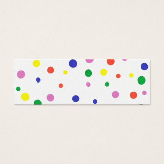 Mini Bookmark card with colorful polka dots