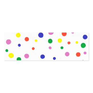 Mini Bookmark card with colorful polka dots Pack Of Skinny Business Cards