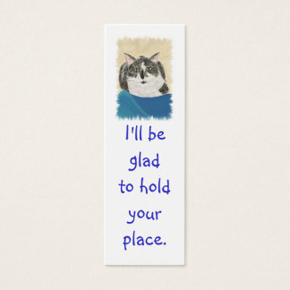 Mini Bookmark Cards, Black WhiteTuxedo Cat Mini Business Card