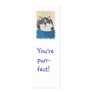 Mini Bookmark Cards,Tuxedo Cat Business Card