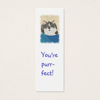 Mini Bookmark Cards,Tuxedo Cat Mini Business Card