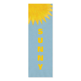 Mini Bookmark cards, yellow orange Sunny Sun Pack Of Skinny Business Cards