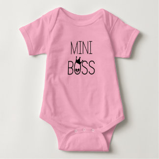 'Mini Boss' Funny Baby Bodysuit