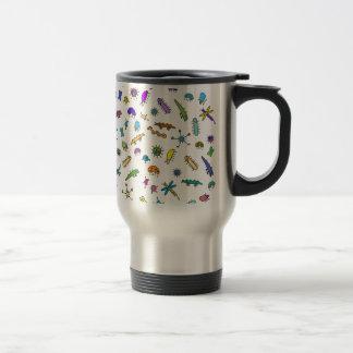 Mini Bugs and Mini Beasts Stainless Steel Travel Mug