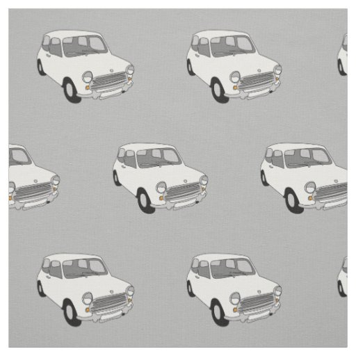 Mini Car Fabric Combed Cotton by Rupert &