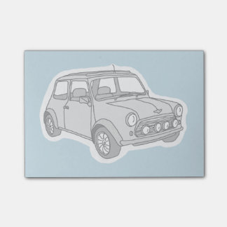 Mini car post-it notes