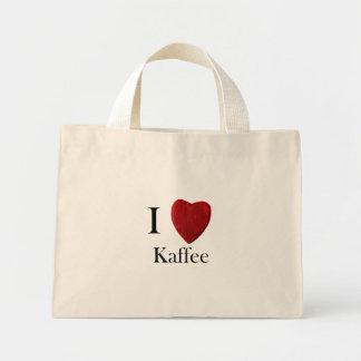 Mini carrying bag I loves coffee