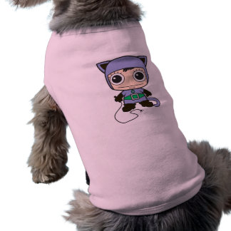 Mini Cat Woman Sleeveless Dog Shirt