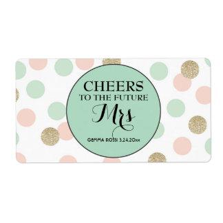 Mini Champagne Label Bridal Shower Favor