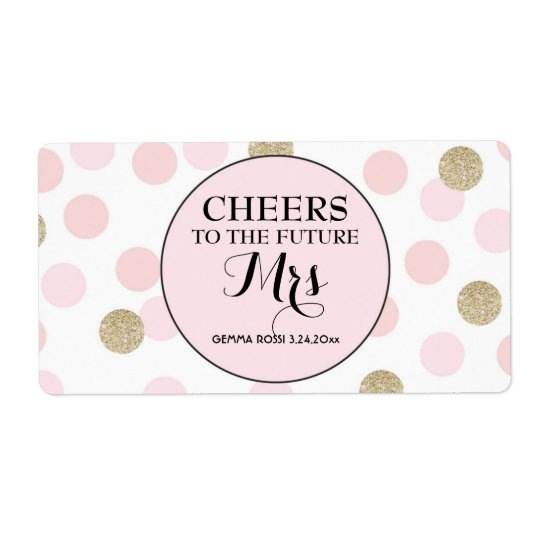 Mini Champagne Label Bridal Shower Favour