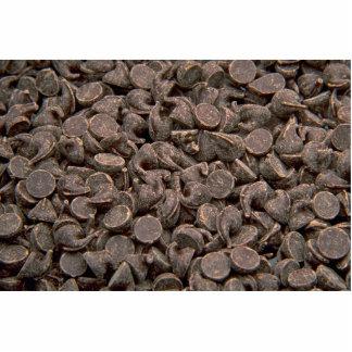 Mini chocolate drops photo cut out