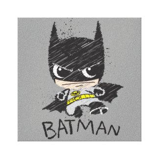 Mini Classic Batman Sketch Canvas Print