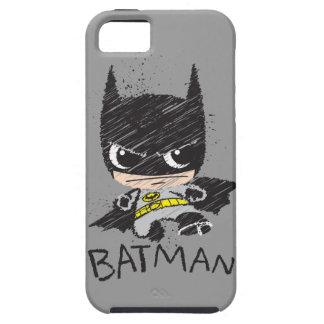 Mini Classic Batman Sketch iPhone 5 Case
