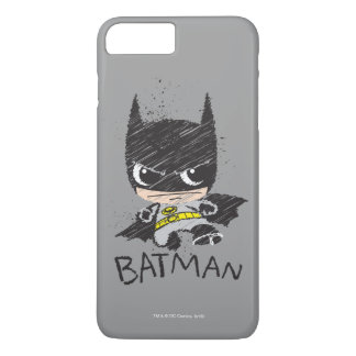 Mini Classic Batman Sketch iPhone 8 Plus/7 Plus Case