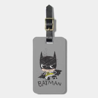 Mini Classic Batman Sketch Luggage Tag