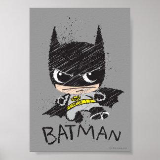 Mini Classic Batman Sketch Poster