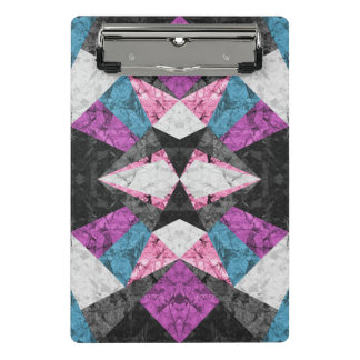Mini Clipboard Marble Geometric Background G438