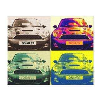 Mini Cooper collage Canvas Print
