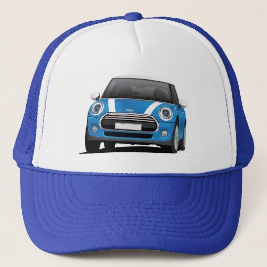 Mini Cooper S (F56) blue with white stripes